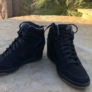 Nike wedge sneakers, size 8 women's